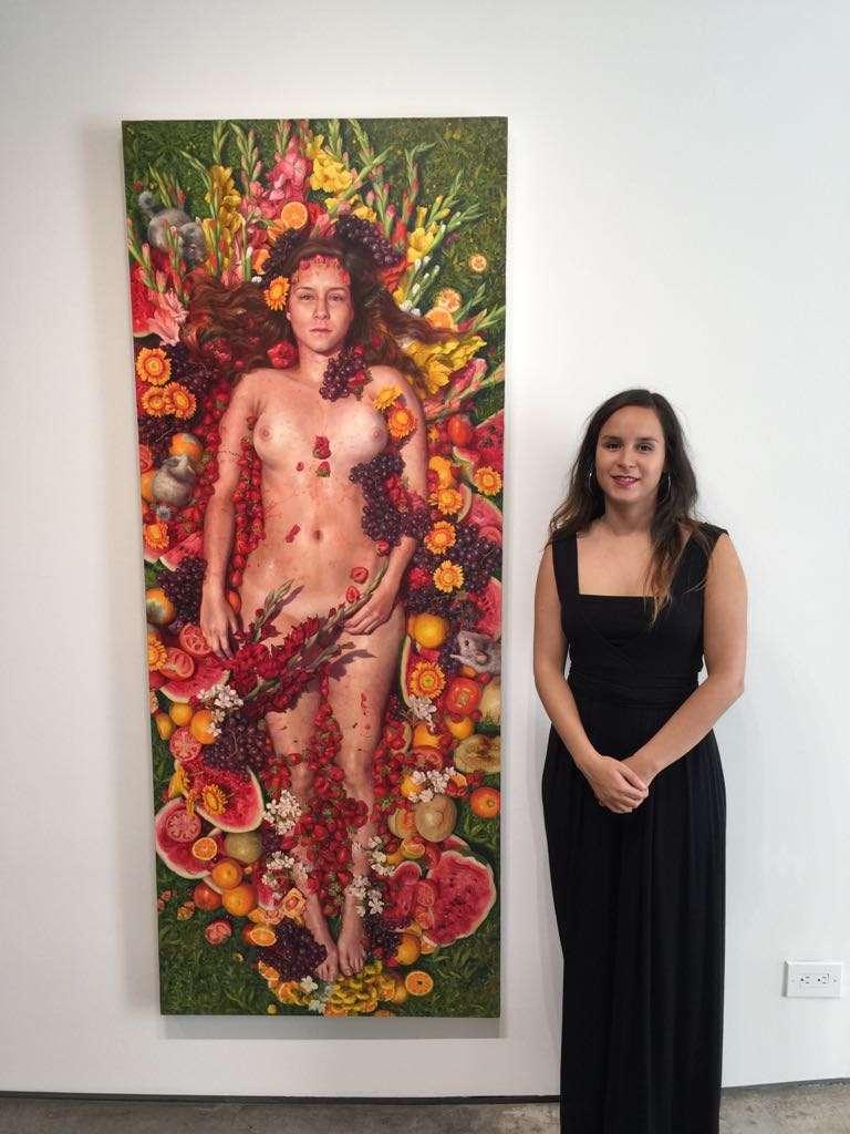 """El recinto donde hoy expone se ubica en Chelsea, """"el barrio con las galerías artísticas más relevantes y sofisticadas del país"""", explica Alonsa."""